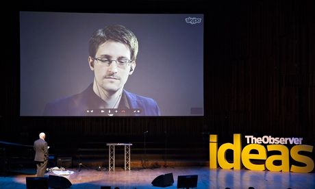 Snowden via videoverbinding in Londen