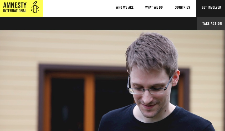 Amnesty International pleit voor gratie voor Edward Snowden